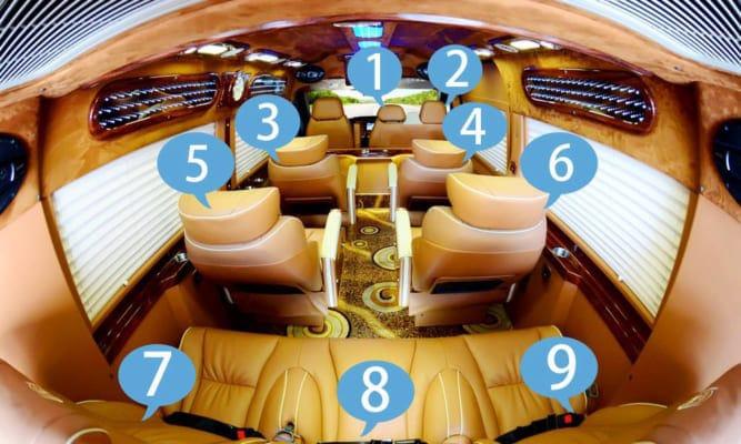 Ghế VIP xe Limousine